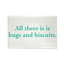 Hugs and Biscuits Rectangle Magnet