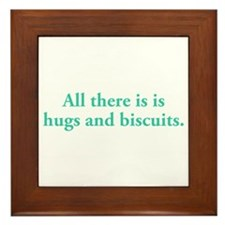 Hugs and Biscuits Framed Tile