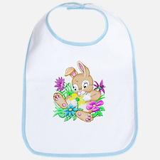 Bunny With Flowers Bib