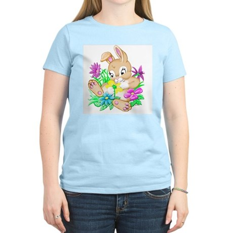 Bunny With Flowers Women's Light T-Shirt