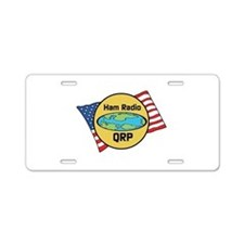 Ham Radio QRP Aluminum License Plate