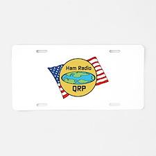 Ham Radio QRP Aluminum License Plate