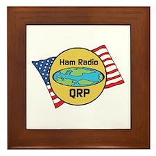 Ham Radio QRP Framed Tile