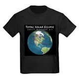 Solar eclipse 2017 Kids T-shirts (Dark)