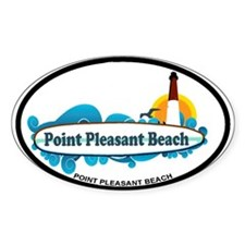 Point Pleasant Beach NJ - Surf Design Decal
