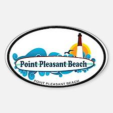 Point Pleasant Beach NJ - Surf Design Decal
