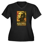 Ron Paul Women's Plus Size V-Neck Dark T-Shirt