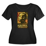 Ron Paul Women's Plus Size Scoop Neck Dark T-Shirt