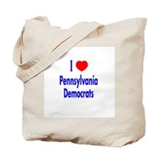 I Love Pennsylvania Democrats Tote Bag