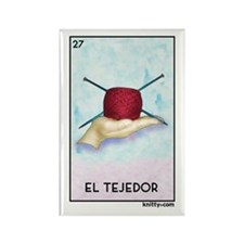 El Tejedor [for guy knitters] Rectangle Magnet