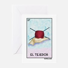 El Tejedor [for guy knitters] Greeting Cards (Pk o