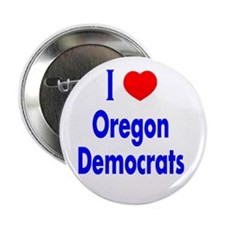 I Love Oregon Democrats Button