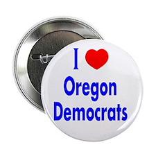 "I Love Oregon Democrats 2.25"" Button (10 pack)"