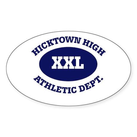 Hicktown High Oval Sticker