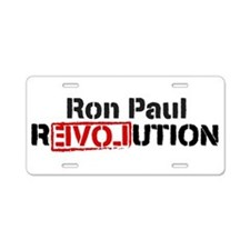 Ron Paul Revolution Aluminum License Plate