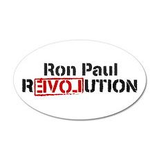 Ron Paul Revolution 22x14 Oval Wall Peel