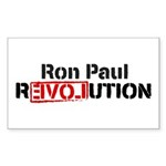 Ron Paul Revolution Sticker (Rectangle 10 pk)