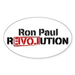 Ron Paul Revolution Sticker (Oval 10 pk)