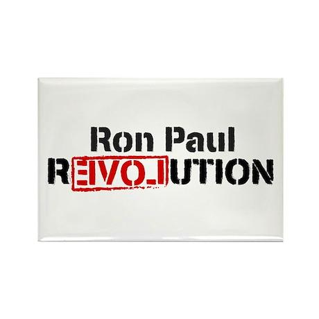 Ron Paul Revolution Rectangle Magnet (100 pack)