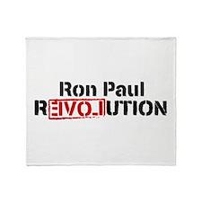 Ron Paul Revolution Throw Blanket