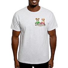 Fox Terrier Poker Buddies Ash Grey T-Shirt