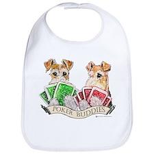 Fox Terrier Poker Buddies Bib