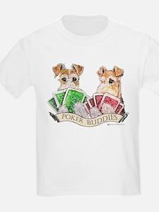 Fox Terrier Poker Buddies Kids T-Shirt
