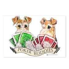Fox Terrier Poker Buddies Postcards (Package of 8)