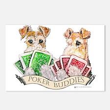 Fox Terrier Poker Buddies Postcards (Package of 8)