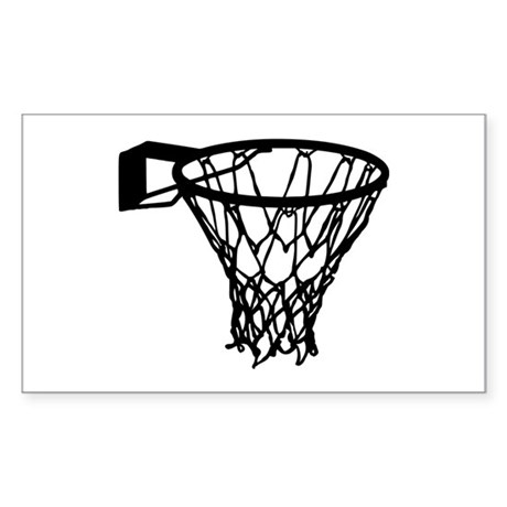 Basketball Sticker (Rectangle)
