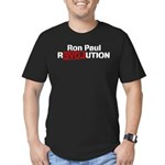 Ron Paul Revolution Men's Fitted T-Shirt (dark)