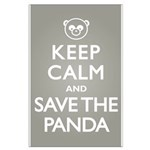 Keep Calm Save the Panda Large Poster