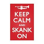 Keep Calm Skank On Mini Poster Print