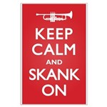 Keep Calm Skank On Large Poster
