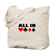 All in poker Tote Bag