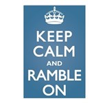 Keep Calm Ramble On Postcards (Package of 8)
