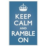 Keep Calm Ramble On Large Poster