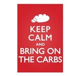 Keep Calm Bring on Carbs Postcards (Package of 8)