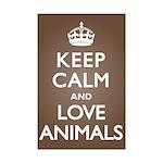 Keep Calm Love Animals Mini Poster Print