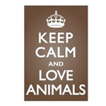Keep Calm Love Animals Postcards (Package of 8)