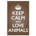 Keep Calm Love Animals Large Poster