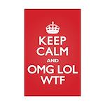 Keep Calm OMG WTF Mini Poster Print