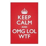 Keep Calm OMG WTF Postcards (Package of 8)