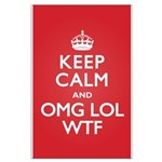 Keep Calm OMG WTF Large Poster