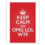 Keep Calm OMG WTF Small Poster
