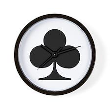 Poker clubs Wall Clock