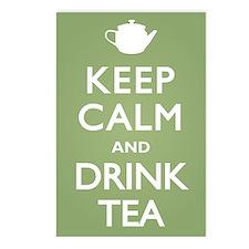 Keep Calm Drink Tea Postcards (Package of 8)