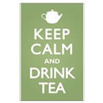 Keep Calm Drink Tea Large Poster
