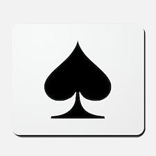 Poker spades Mousepad