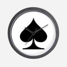 Poker spades Wall Clock